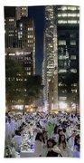 Diner En Blanc New York 2013 Beach Towel