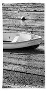 Dinghy At Low Tide Beach Towel
