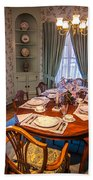 Dining Room And Dinner Table Beach Towel