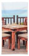 Dining Table Beach Towel by Tom Gowanlock