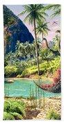 Dinosaur Volcanos Beach Towel