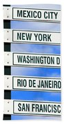 Direction Signs Beach Towel