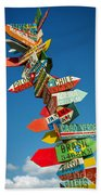 Directions Signs Beach Towel