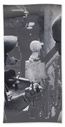 Director Martin Ritt And James Earl Jones Number 2 The Great White Hope Set Globe Arizona 1969-2013 Beach Towel