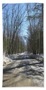Dirt Road In March Beach Towel