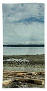 Low Tide Along The Discovery Passage Beach Towel