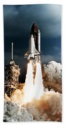 Discovery Hubble Launch Sts-31 Beach Towel