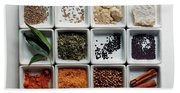 Dishes Of Spices Beach Sheet