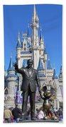 Disney And Mickey Beach Towel