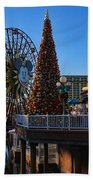 Disney California Adventure Christmas Beach Towel