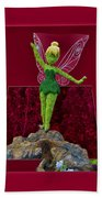Disney Floral Tinker Bell 01 Beach Towel by Thomas Woolworth