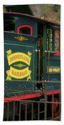 Disneyland Rr Oiling Green Engine 3 Beach Towel