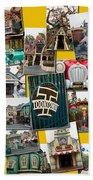 Disneyland Toontown Yellow Collage Beach Towel
