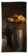 Displaying Mother Nature's Autumn Abundance Of Flowers And Colors Beach Towel
