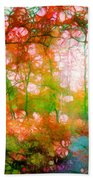Distortions Of Autumn Beach Towel