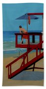 Distracted Lifeguard Beach Towel