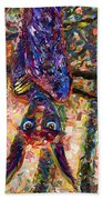 Disturbed Beach Towel by James W Johnson