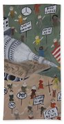 Divided We Stand Beach Towel