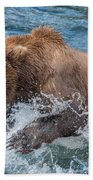 Diving For Salmon Beach Towel