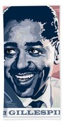 Dizzy Gillespie Portrait Beach Towel