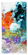 Djinn Blows ... Dove Floating In The Wind Beach Towel