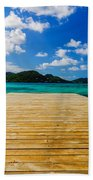 Dock And Beautiful Water Beach Towel