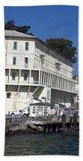 Dock At Alcatraz Island Beach Towel