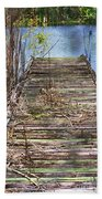 Dock In The Glades Beach Towel