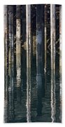 Dock Pilings Beach Towel