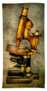 Doctor - Microscope - The Start Of Modern Science Beach Towel by Mike Savad