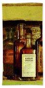 Doctor - Syrup Of Ipecac Beach Towel by Susan Savad