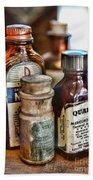 Doctor The Mercurochrome Bottle Beach Towel by Paul Ward