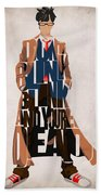 Doctor Who Inspired Tenth Doctor's Typographic Artwork Beach Towel