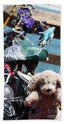 Dog Bike Beach Towel
