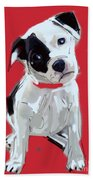 Dog Doggie Red Beach Towel