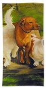 Dog Friends Beach Towel