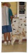 Dog Owner Dog Vet's Office Casa Grande Arizona 2004 Beach Towel by David Lee Guss