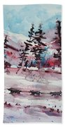 Dog Sled Beach Towel