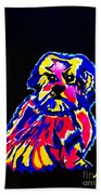 Dog Tibetin Lhasa Apsos  Beach Towel