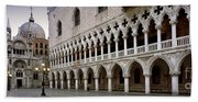 Doge's Palace And Basilica San Marco Beach Sheet