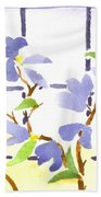 Dogwood In The Window Beach Towel