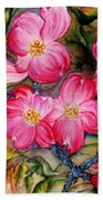 Dogwoods In Pink Beach Towel
