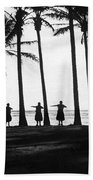 Doing The Hula At Sunset Beach Towel