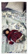 Doll On Bed Beach Towel