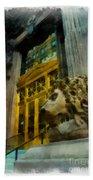 Dollar Bank Lion Pittsburgh Beach Towel