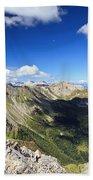 Dolomites Landscape On Summer Beach Towel