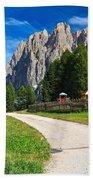 Dolomiti - Gardecia With Catinaccio Mount Beach Towel