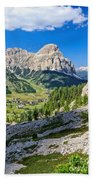 Dolomiti - High Badia Valley Beach Towel