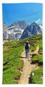 Dolomiti - Hiking In Contrin Valley Beach Towel