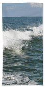 Dolphin In Waves Beach Towel